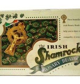 ROSARIES & JEWELRY SHAMROCK IRISH ROSARY