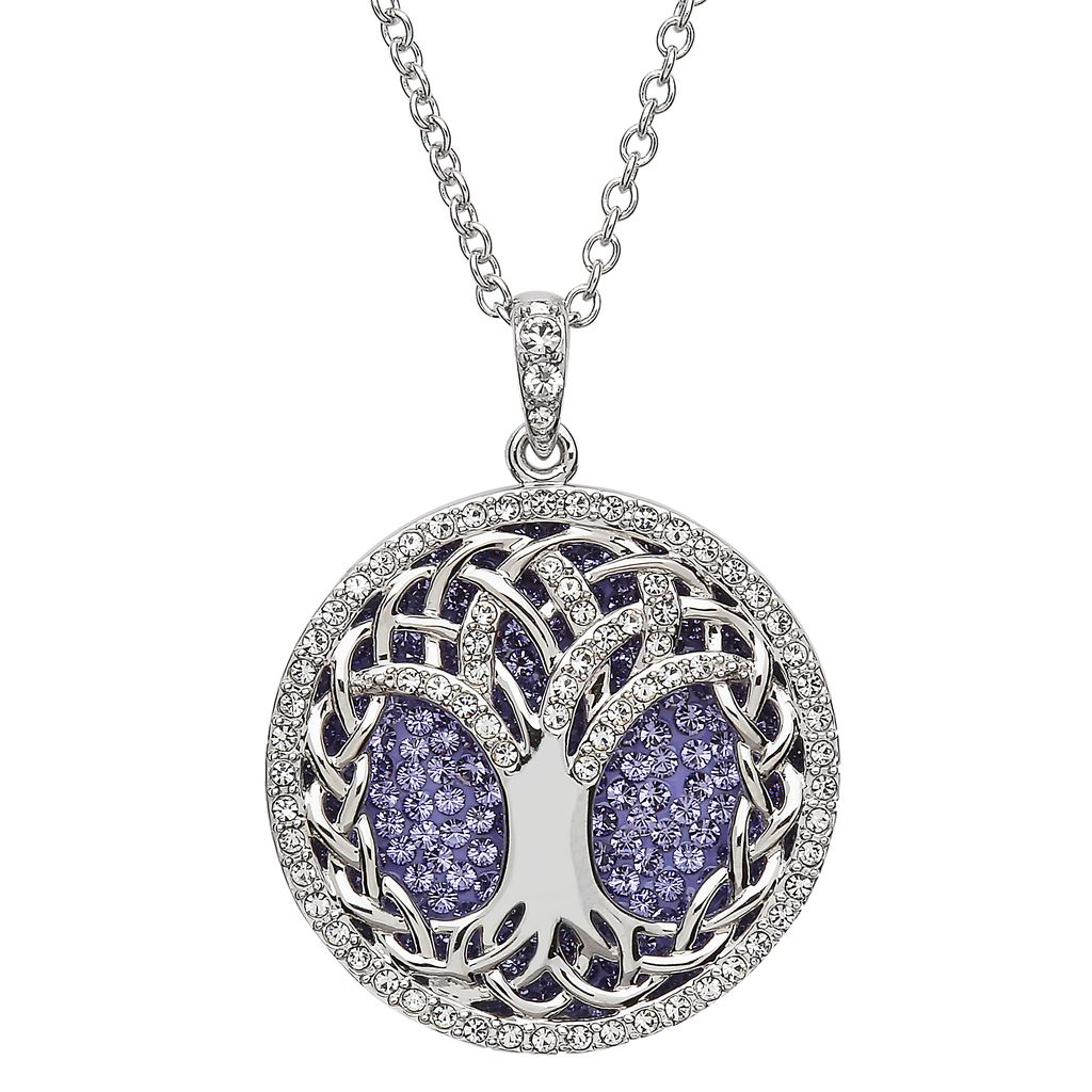 Pendants necklaces sterling silver peridot tree of life pendant pendants necklaces sterling silver tanzanite tree of life pendant with swarovski crystals mozeypictures Images