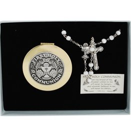 ROSARIES & JEWELRY GIRLS COMMUNION ROSARY & KEEPSAKE BOX