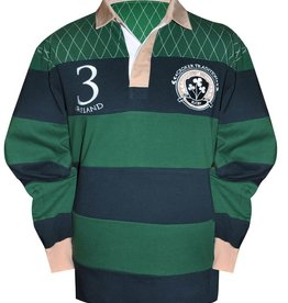 SPORTSWEAR GREEN CROKER NAVY TRADITIONAL RUGBY SHIRT