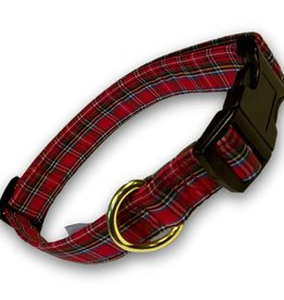 COLLARS & LEASHES PLAID IVA DOG COLLAR
