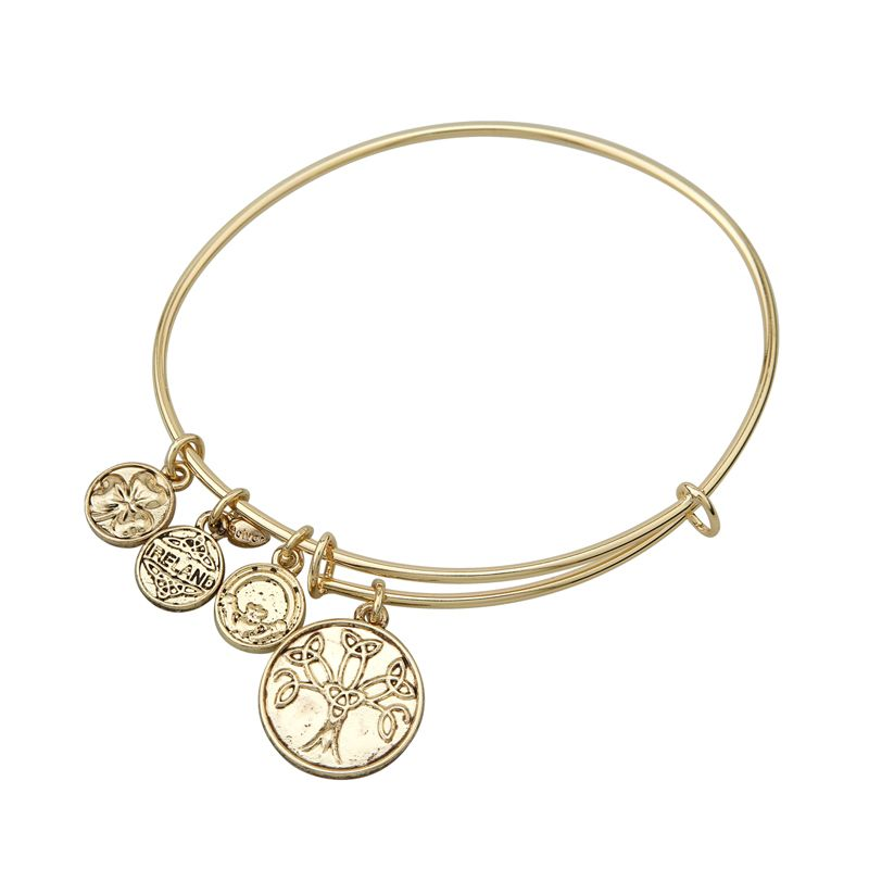 BRACELETS & BANGLES SOLVAR GOLD TONE TREE OF LIFE CHARM BANGLE