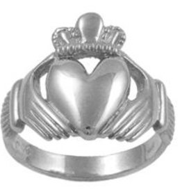 """RINGS CLEARANCE - FACET STERLING """"KING"""" CLADDAGH RING - FINAL SALE"""
