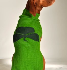 SWEATERS GREEN SHAMROCK HAND-KNIT DOG SWEATER