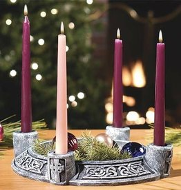 RELIGIOUS CELTIC ADVENT WREATH (GREEN OR GREY)