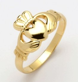 RINGS MAIDS 10K GOLD HEAVY TRADITIONAL CLADDAGH RING