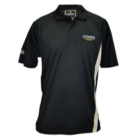 SHIRTS GUINNESS BLACK GOLF SHIRT