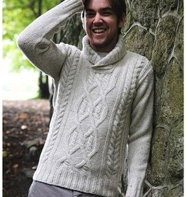 SWEATERS CLEARANCE - DELVIN SHAWL SWEATER - FINAL SALE