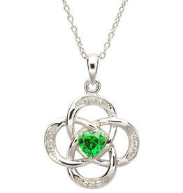 PENDANTS & NECKLACES STERLING SILVER CELTIC KNOT BIRTHSTONE PENDANT