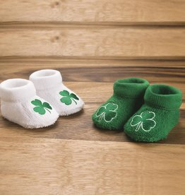BABY ACCESSORIES NEWBORN BOOTIE WITH SHAMROCK