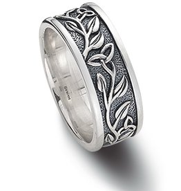 RINGS STERLING SILVER TRINITY TREE OF LIFE RING