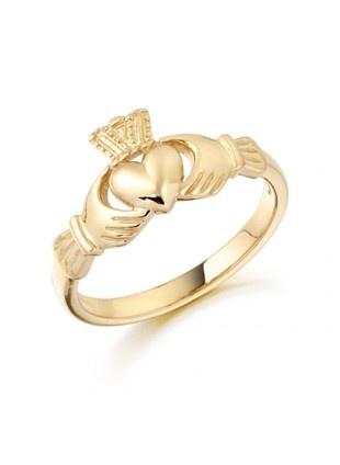 RINGS 10K GOLD CLADDAGH RING