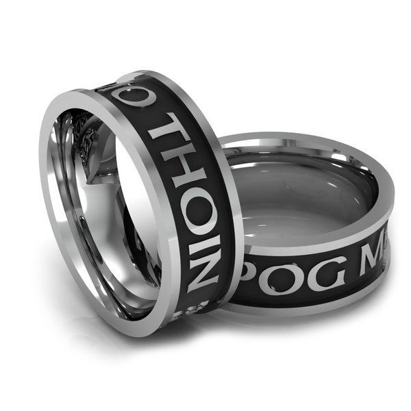 rings celtic wedding ogham irish creations
