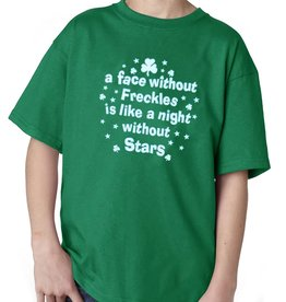 """KIDS CLOTHES CLEARANCE - """"A FACE WITHOUT FRECKLES..."""" YOUTH T-SHIRT - FINAL SALE"""