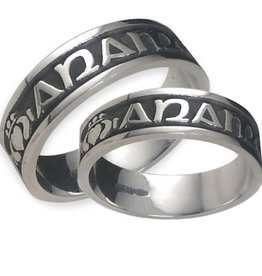 RINGS GENTS MO ANAM CARA STERLING SILVER OXIDIZED RING