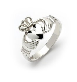 RINGS FADO STERLING GENTS TRADITIONAL CLADDAGH RING