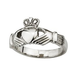 RINGS LADIES STAINLESS STEEL CLADDAGH