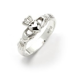 RINGS CLEARANCE - CLADDAGH RING NARROW STERLING SILVER - FINAL SALE