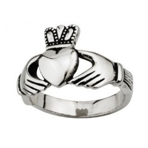 RINGS GENTS STAINLESS STEEL CLADDAGH