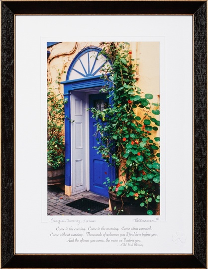 PLAQUES & GIFTS GEORGIAN DOORWAY PRINT 9X12