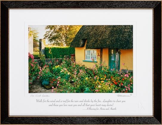 PLAQUES & GIFTS IRISH GARDEN PRINT 9X12
