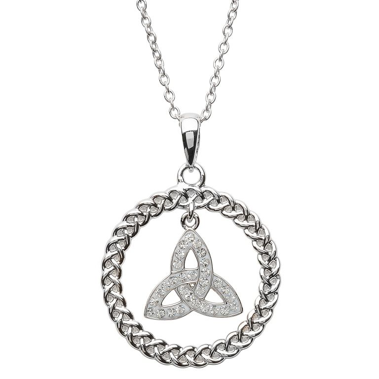 Pendants necklaces shanore sterling trinity circle pendant with pendants necklaces shanore sterling trinity circle pendant with swarovski crystals aloadofball Images