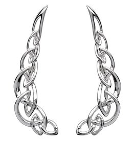 EARRINGS STERLING SILVER CELTIC CLIMBER EARRINGS