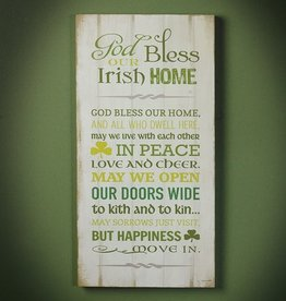 """PLAQUES & GIFTS """"IRISH HOME"""" PLAQUE"""
