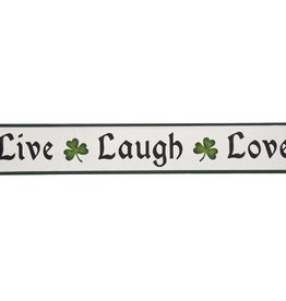 "PLAQUES, SIGNS & POSTERS ""LIVE LAUGH LOVE"" WOODEN SIGN"