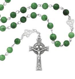 RELIGIOUS IRISH JADE ROSARY