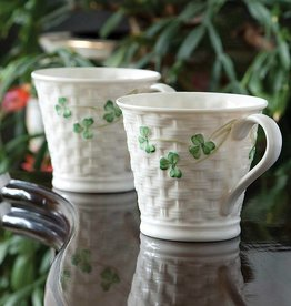 TEAPOTS, MUGS & ACCESSORIES SET OF 2 BELLEEK SHAMROCK MUGS