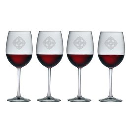 KITCHEN & ACCESSORIES CELTIC KNOT CACHET WINE 19oz GLASSES (4)