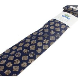 ACCESSORIES BOOK OF KELLS CELTIC KNOT TIE - NAVY