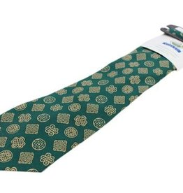 ACCESSORIES BOOK OF KELLS CELTIC KNOT TIE - GREEN