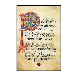 "PLAQUES, SIGNS & POSTERS ""PEACE TO ALL"" 12X18 CONTEMPORARY MANUSCRIPT"