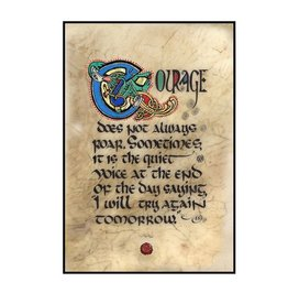 "PLAQUES, SIGNS & POSTERS ""COURAGE"" 12X18 CONTEMPORARY MANUSCRIPT"
