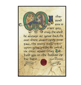 "PLAQUES, SIGNS & POSTERS ""IRISH BLESSING"" 12X18 CONTEMPORARY MANUSCRIPT"