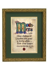 """PLAQUES, SIGNS & POSTERS """"MOTHER'S BLESSING"""" 8X10 MANUSCRIPT"""