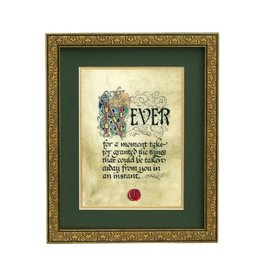 "PLAQUES, SIGNS & POSTERS ""NEVER FOR A MOMENT..."" MANUSCRIPT 8X10 PLAQUE"