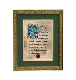 "PLAQUES, SIGNS & POSTERS ""SERENITY PRAYER "" 8X10 MANUSCRIPT"