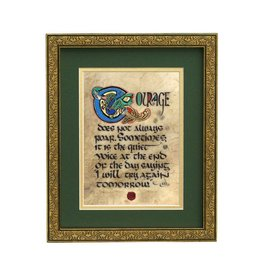 "PLAQUES, SIGNS & POSTERS ""COURAGE"" MANUSCRIPT 8X10 PLAQUE"