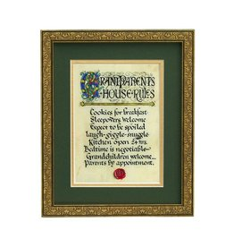 "PLAQUES, SIGNS & POSTERS ""GRANDPARENTS RULES"" MANUSCRIPT 8X10 PLAQUE"