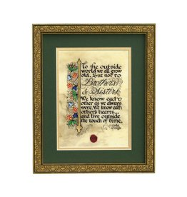 "PLAQUES & GIFTS ""BROTHERS & SISTERS..."" 8X10 FRAMED MANUSCRIPT"