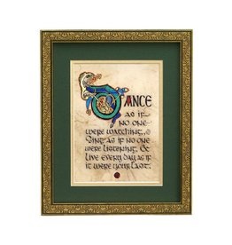 "PLAQUES, SIGNS & POSTERS ""DANCE AS IF..."" 8X10 FRAMED MANUSCRIPT"