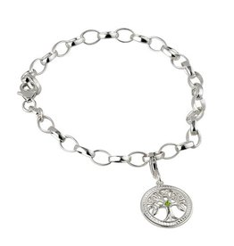 BRACELETS & BANGLES SOLVAR STERLING with STONE TREE OF LIFE CHARM BRACELET