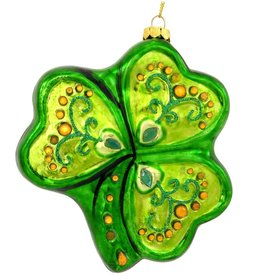 ORNAMENTS IRISH SPARKLE SHAMROCK ORNAMENT