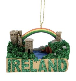 "ORNAMENTS ""IRELAND"" CASTLE RAINBOW ORNAMENT"