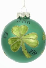 ORNAMENTS SHAMROCK SPARKLE BALL ORNAMENT