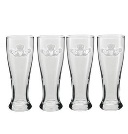 KITCHEN & ACCESSORIES CLADDAGH GRAND PILSNER 20oz GLASSES (4)