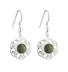 EARRINGS SOLVAR STERLING & CONNEMARA OPEN CELTIC EARRINGS